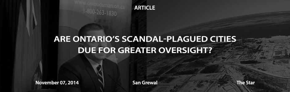 Are Ontario's scandal-plagued cities due for greater oversight?